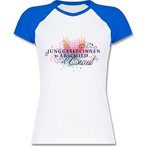 JGA Junggesellinnenabschied - Junggesellinnenabschied Ranken Braut - zweifarbiges  Baseballshirt / Raglan T-Shirt für Damen