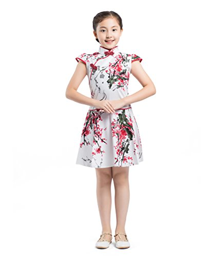 AKAAYUKO Kinder Mädchen Traditionelles Chinesisches Qipao Kleid Cheongsam ()