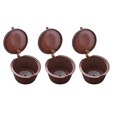 XCSOURCE 3pcs Capsules de café réutilisables, filtres à café écologique, dosettes rechargeables pour Machines de brasseurs Nescafé Dolce Gusto HS890
