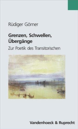 Grenzen, Schwellen, Übergänge (Novum Testamentum Et Orbis Antiquus - Series Archaeologica)