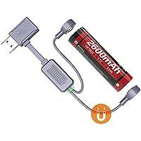 Weltool Magnético USB Cargador de Batería Universal para Li-Ion Recargable Cargador Portátil para Viajar, compatible con 21700 20700 26650 18650 18350 16340 Batería Recargable Carga Descarga Refresh Lib