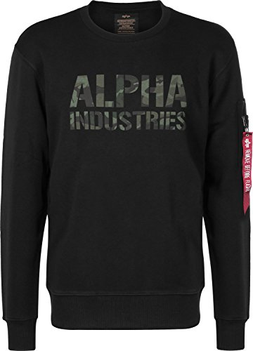 Alpha Industries Sweatshirt black/woodland