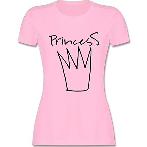 Statement Shirts Princess Krone tailliertes Premium TShirt mit  Rundhalsausschnitt für Damen Rosa