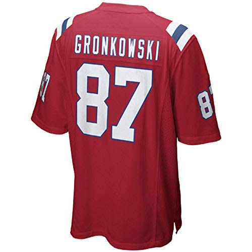 JERWY Men's/Women's/Youth_Rob_Gronkowski_#87_Red_Alternate_Sportswears_Football_Game_Jersey - Tshirt Gronkowski Rob