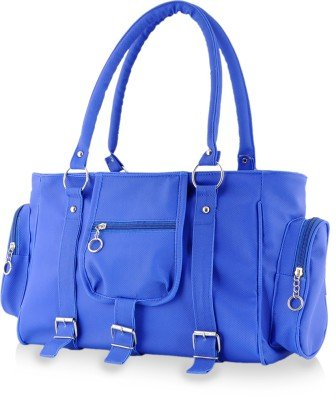 Naaz Bags Collection Women's 3 Buckle Hand Bag ( Blue_NBC000253)