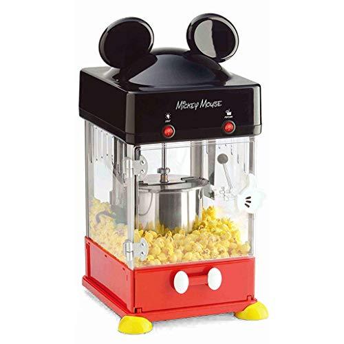 GRKDYBMHJ Popcorn Macchina Automatica casa Piccola Mano-Piegato a Gomito sferica Commerciale Popcorn Machine, Fa Caldo, Fresco, Sano e Fat-Free Theatre Style Popcorn Anytime