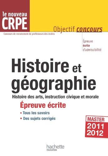 L'histoire-géographie au nouveau CRPE - Épreuve écrite d'admissibilité