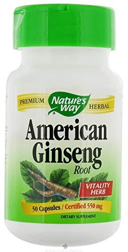 Americana de raíz de ginseng, 550 mg, 50 Cápsulas - Camino de la Naturaleza