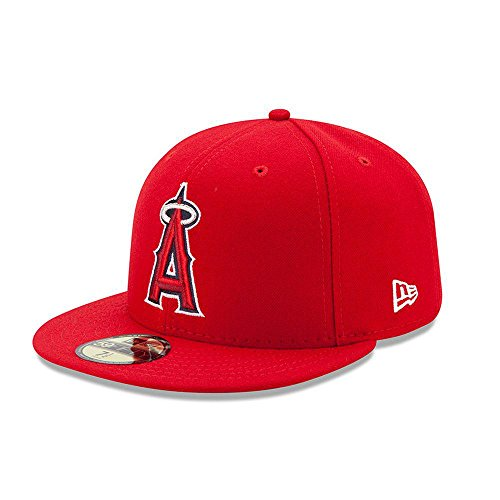 New Era Los Angeles Angels Authentic 59FIFTY Fitted MLB Cap Game, 7 1/2 (Der Hat Collection Authentic)