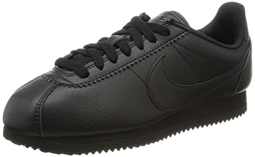 Cortez Nike Schwarz (Nike Damen 884922-001 Turnschuhe, Black (Schwarz / Schwarz / Schwarz), 38 EU)