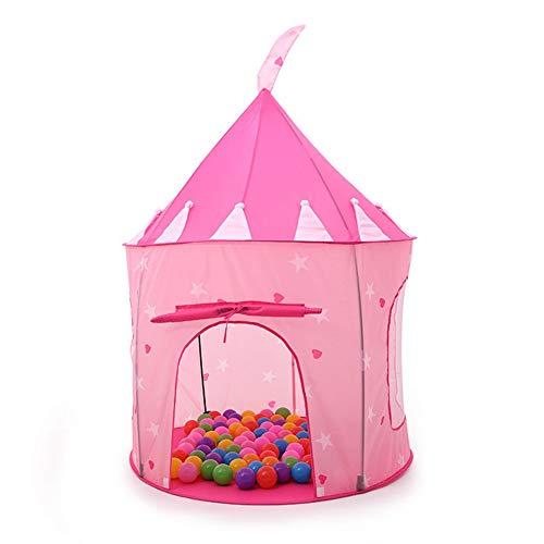 TENCMG Princess Castle Zelt - Rocket Play House Zelt - Dollhouse Outdoor und Indoor Playhouse Zelt - Für Kinder von 1-8 Jahren,D,135x105cm/53x41in