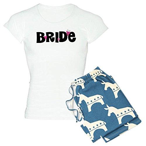 CafePress–Braut Schmetterling Herzen–Damen Neuheit Baumwolle Pyjama Set, bequemen PJ Nachtwäsche Gr. Small, With Democrat Pant (Schmetterling Pyjamas Pjs)