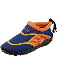 Beco–Escarpines Beco Surf Niños easyfeet Azul azul/naranja Talla:23