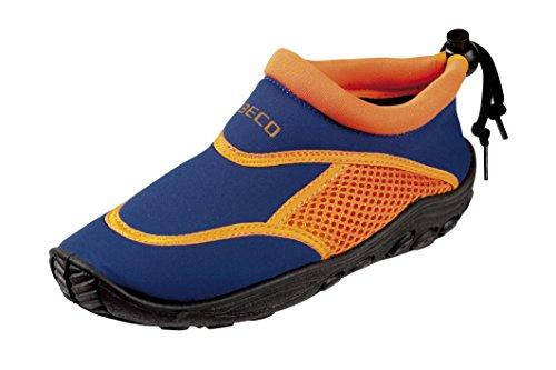 BECO Badeschuhe / Surfschuhe für Kinder blau/orange 28