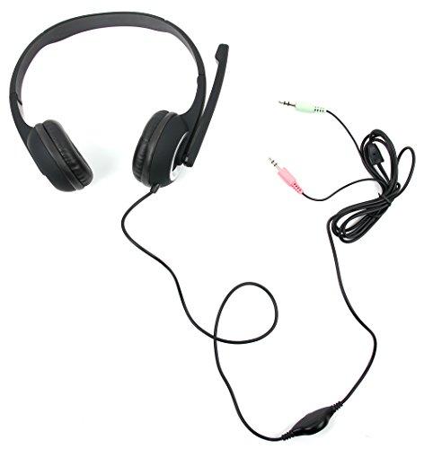 DURAGADGET PC Stereo Headset Schwarz-Grau für Xiaomi Mi Pad 4 Plus - Black Ps3 Friday