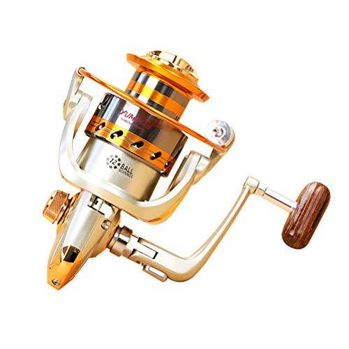 StyleBest Angelrolle Rocker, Hochpräzise Salzwasser-Spinnrolle, Hochwertige Salzwasser-Metallrolle mit Korrosionsbeständigkeit und Baitrunner-Metall-Frontbremse