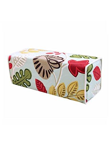 GJM Shop U Multifunktionale Baumwolle Kissen Kisse Baumwoll-Rechteck-Kissen Massivholz-Sofa Kissen-Bett Pastoral Blumen Kissen - Schutz - Taillenstickerei Faltbare Kissendecke -