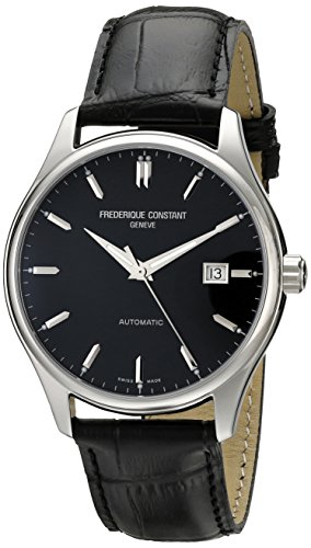 frederique-constant-homme-40mm-automatique-noir-cuir-bracelet-montre-fc-303b5b6