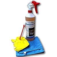 PandaCleaner Backofenreiniger Spray 1000ml - Set Inkl. Handschuhe, Pinsel Und Reinigungstuch - Intensiv & Stark - Löst Hartnäckigste Verkrustungen Und Schmutzablagerungen