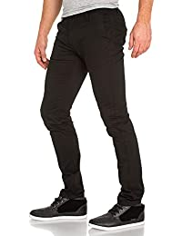 BLZ jeans - Pantalon homme chino 5 poches noir