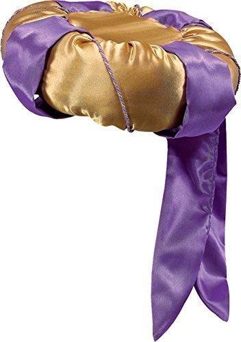 arty Zubehör Arabisch Sultan Herren Turban Hut Gold & Lila (Sultan Kostüme Für Erwachsene)