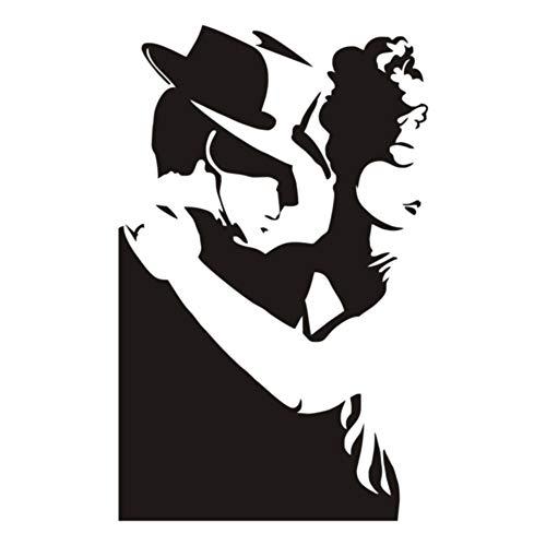 jiushizq Tanzen Sport Vinyl Wandaufkleber Abnehmbare wasserdichte Mann Und Frauen Poster Wandtattoos Für Gym Hintergrund Bett Grau 43x68 cm -
