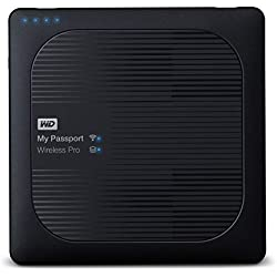WD My Passport Wireless Pro Disque Dur Externe Portable 2 To - WIFI USB 3.0 - WDBP2P0020BBK-EESN