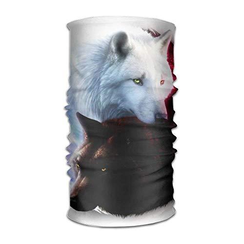 Yin Yang Black Wolf and White Wolf Unisex Sport Scarf Headbands Bandana Outdoor Sweatband Kopfbedeckung - Natürliche Solid Shampoo