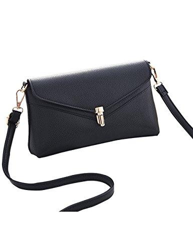 Menschwear Leather Tote Bag lucida PU nuove signore borsa a tracolla Rosso Nero