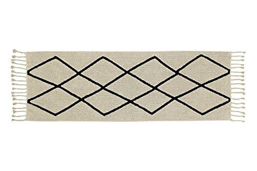 Lorena Canals pequeño Bereber Alfombra Lavable, algodón, Beige, 80