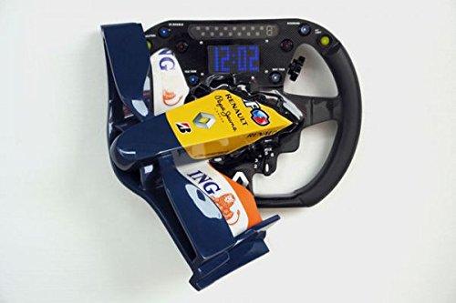 Formule 1 Horloge numérique Bleu verkleinert 80 cm pour extérieur en fibre de verre haute qualité plastique (GFK)