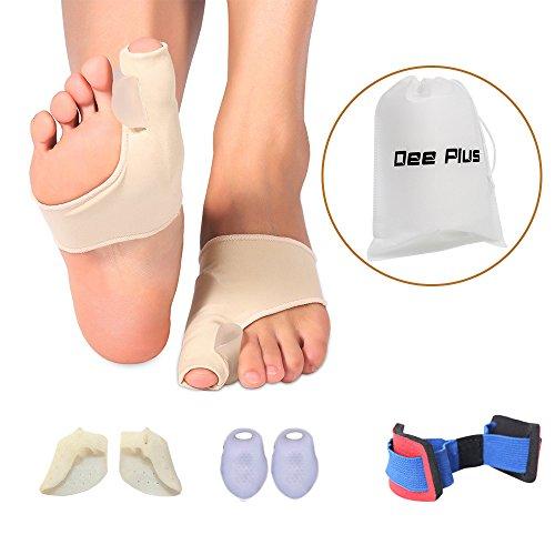 Correttore per alluce valgo corredo per kit per la cura dei piedi, pastiglie per punterie ortopediche Imbottito antidolorifico Alluce separatore, soletta gel separatore per sollievo, proteggi dita piccole