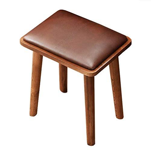Jjxzm dressing stool, sgabello da trucco per la casa sgabello fashion dining scrivania sedia moderna creativa piccola panca in legno massello (colore : brown)