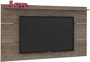 Artely Slim Wall Panel for 60 inch TV, Cinnamon Brown, W 180 cm x D 15 cm x H 98cm