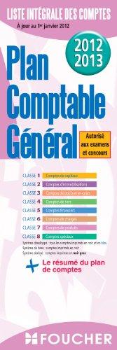 Plan comptable général 2012-2013