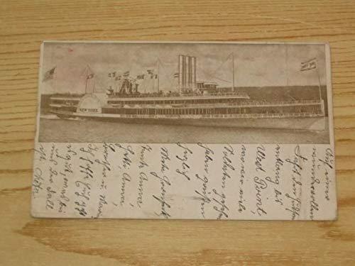 AK Dampfer New York 1908