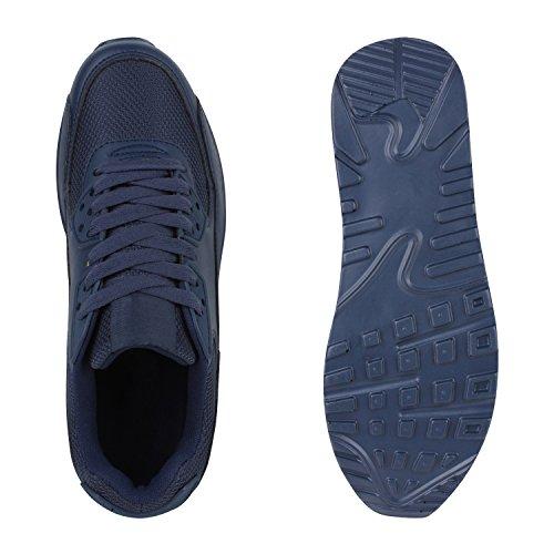 Damen Herren Unisex Laufschuhe Profil Sohle Sportschuhe Fitness Schuhe Dunkelblau
