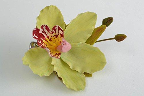 Pinza-para-el-pelo-de-porcelana-fria-con-forma-de-orquidea-broche-artesanal