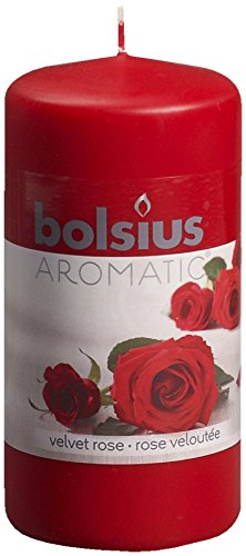 Aromatic-103626640181-Velvet-Rose-Pillar-Candle-Paraffin-Wax-Red