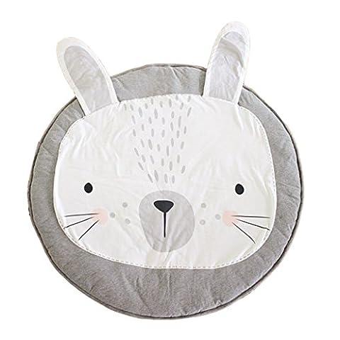MagiDeal Dessin Animé Tapis de Jeu Rond Rallonge Couverture pour Bébé - rabbit