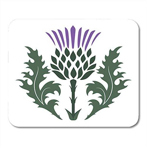 Gaming Mauspad Green Flower Thistle Onopordum Acanthium Scottish White Purple Scotland 11.8
