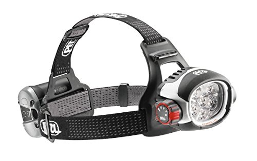 PETZL ULTRA RUSH - LINTERNA (HEADBAND FLASHLIGHT  LED  NEGRO  COLOR BLANCO  IP67  ION DE LITIO)