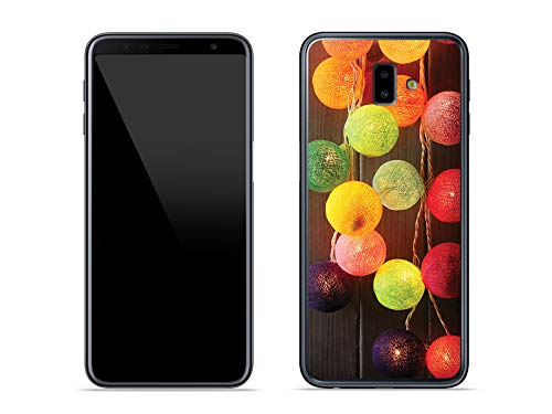 etuo Samsung Galaxy J6 Plus - Hülle Foto Case - Bunte Lämpchens - Handyhülle Schutzhülle Etui Case Cover Tasche für Handy