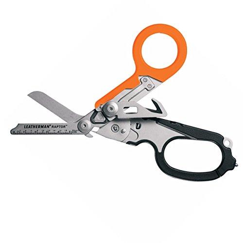 Leatherman RAPTOR Orange-Edition Multitool Werkzeug Klappbare medizinische Schere, Notfall, Gurtschneider, Ringmesser, Glasbrecher und Holster