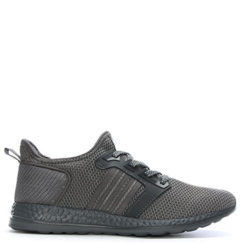 Daniel Kicks Grey Knitted Woven Lace Up Trainers Grey Fabric