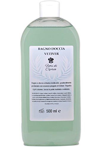 Bagno Doccia Vetiver - Bagnodoccia schiuma tonificante. Profumazione adatta anche per Uomo - 500 ml