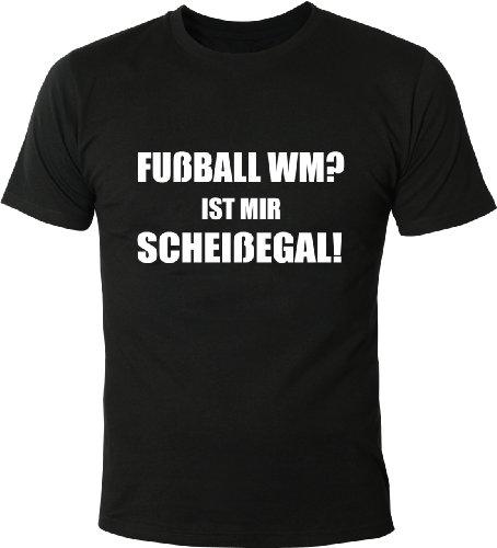 Mister Merchandise Cooles Herren T-Shirt Fußball WM? Ist mir scheißegal! Schwarz