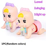 RG-FA Early Education Electric Baby Doll Singing Crawling Light Up Chiama Mamma e papà Baby Toy Girl Toy 0-3 Anni