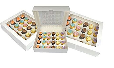 Premium Mini Cupcake Box for 24 Cupcakes with Window and Divider 1ST CLASS POST