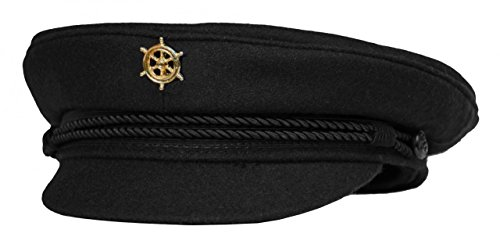 modAS Original Elbsegler mit vergoldeter Anstecknadel - schwarz, Größe:63, Ausführung:Steuerrad